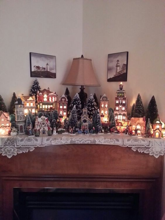 Un village de Noel en miniature