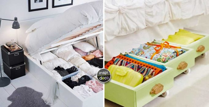 20 ideas for space saving cleaning under the bed get inspired - Rangement Sous Lit