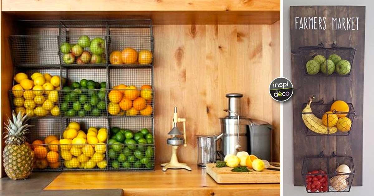 18 Idées « Gain De Place » Pour Ranger Fruits Et Légumes Dans Votre Petite  Cuisine! Inspirez Vous