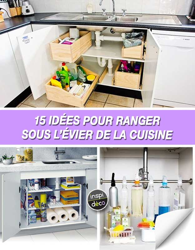 comment ranger sous le lavabo de la cuisine voici 15 id es inspirantes. Black Bedroom Furniture Sets. Home Design Ideas