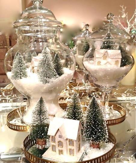 Une scène de Noel en miniature