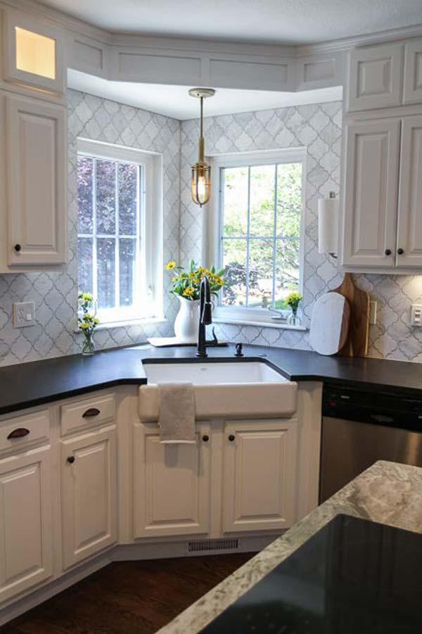 Optimiser une petite cuisine en utilisant bien les angles for Cuisine dans petit espace