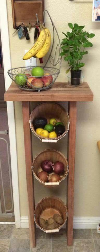 Rangement fruits et l gumes dans une petite cuisine 18 for Petite cuisine idee rangement
