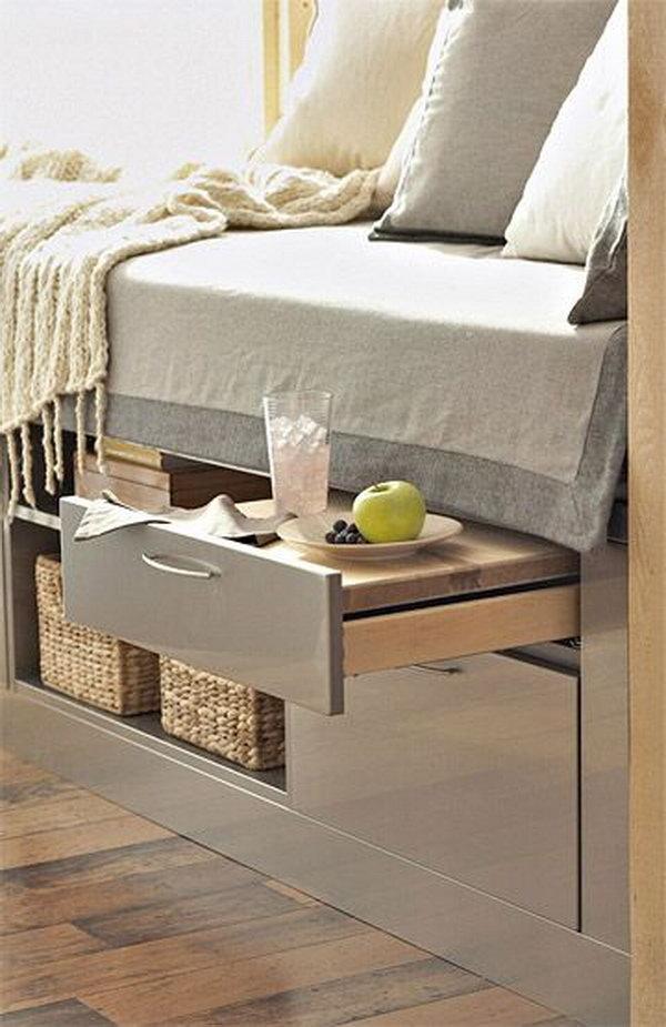 Sfruttare lo spazio sotto il letto
