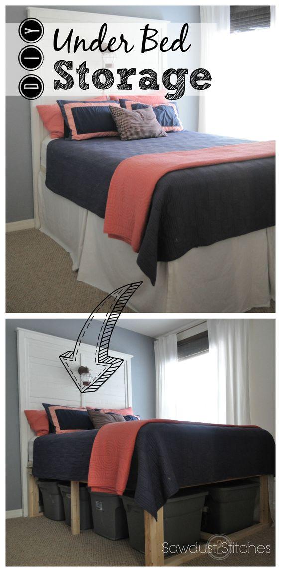 rangement sous lit voici 20 id es gain de place inspirez vous. Black Bedroom Furniture Sets. Home Design Ideas