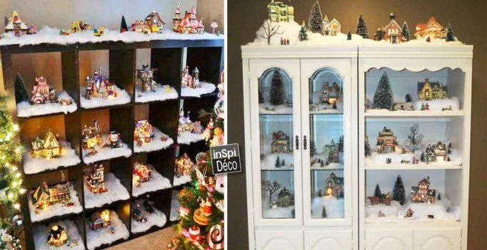 Un village de noel en miniature pour un d cor de r ve 15 id es - Decor village noel miniature ...