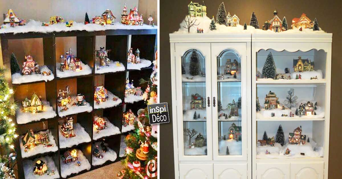un village de noel en miniature pour un d cor de r ve 15. Black Bedroom Furniture Sets. Home Design Ideas