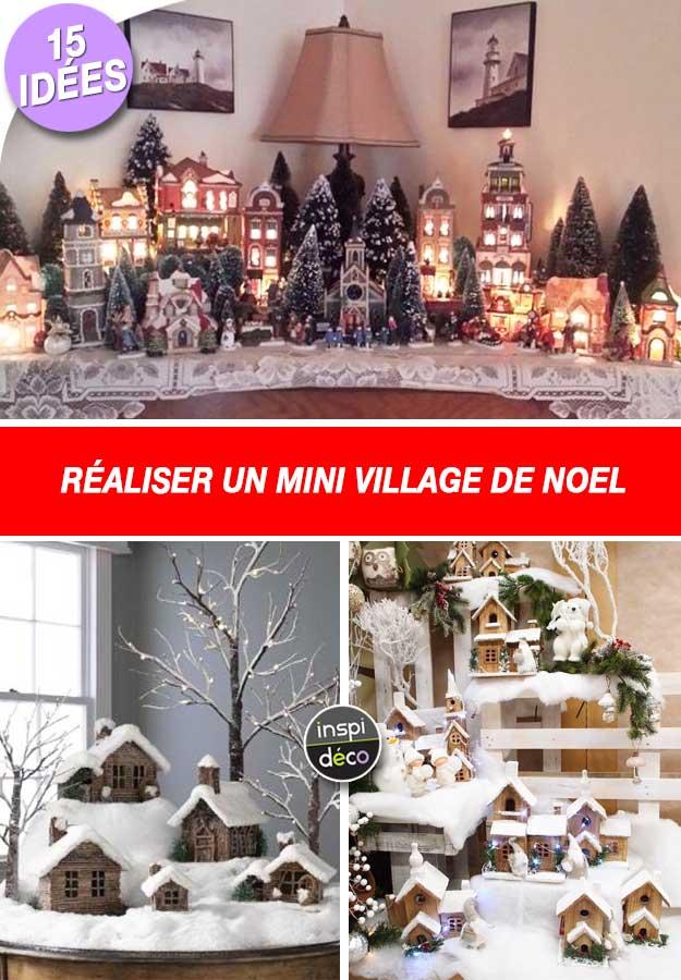 Support decoration village de noel