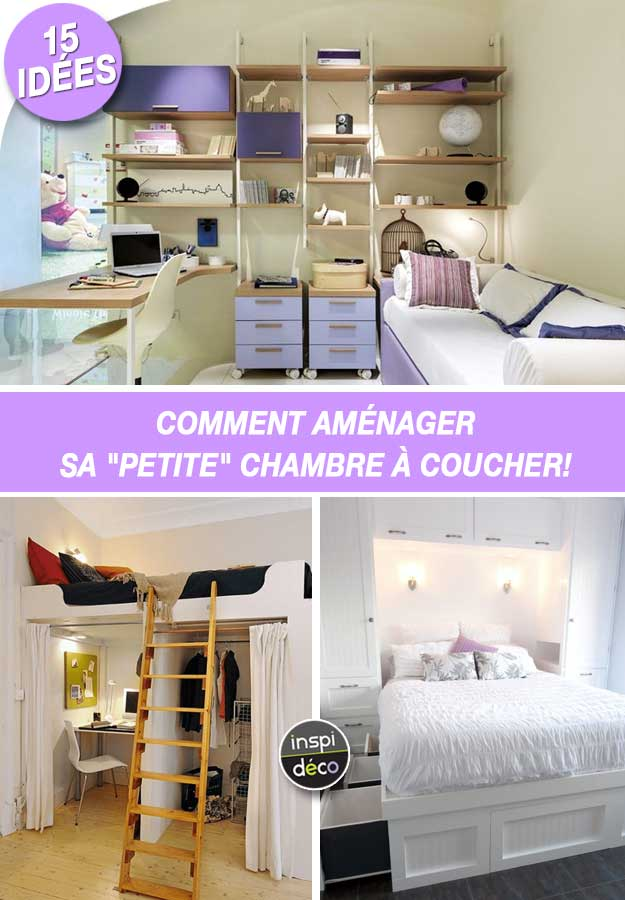 comment am nager une petite chambre coucher 15 id es inspirantes. Black Bedroom Furniture Sets. Home Design Ideas
