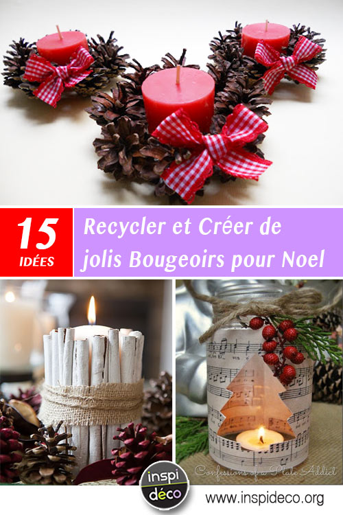 jolis bougeoirs diy pour noel 15 id es pour vous inspirer. Black Bedroom Furniture Sets. Home Design Ideas