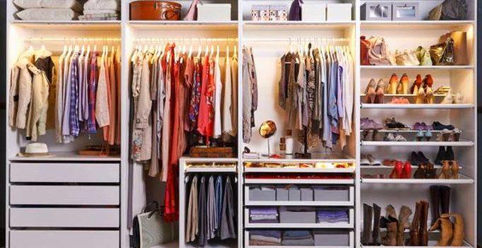 15 id es pour bien diviser l espace dans son dressing inspirez - Astuces bricolage recup ...