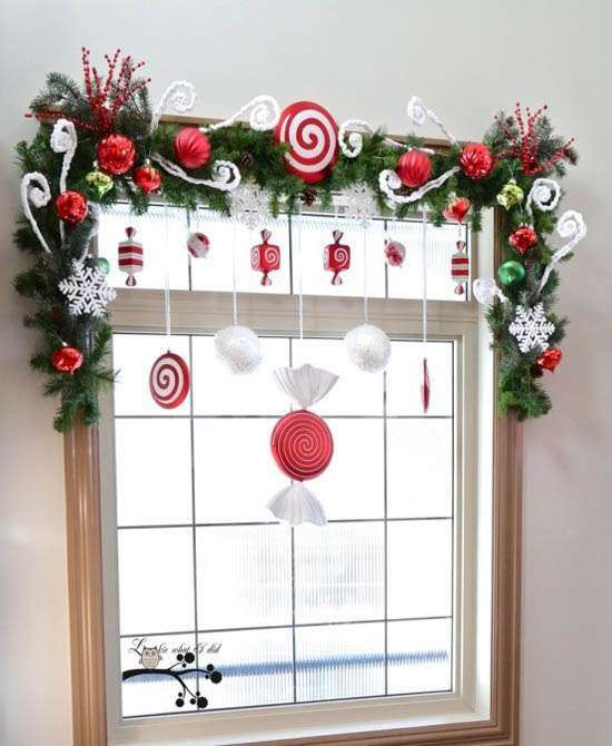 Décorer les fenêtres pour Noel