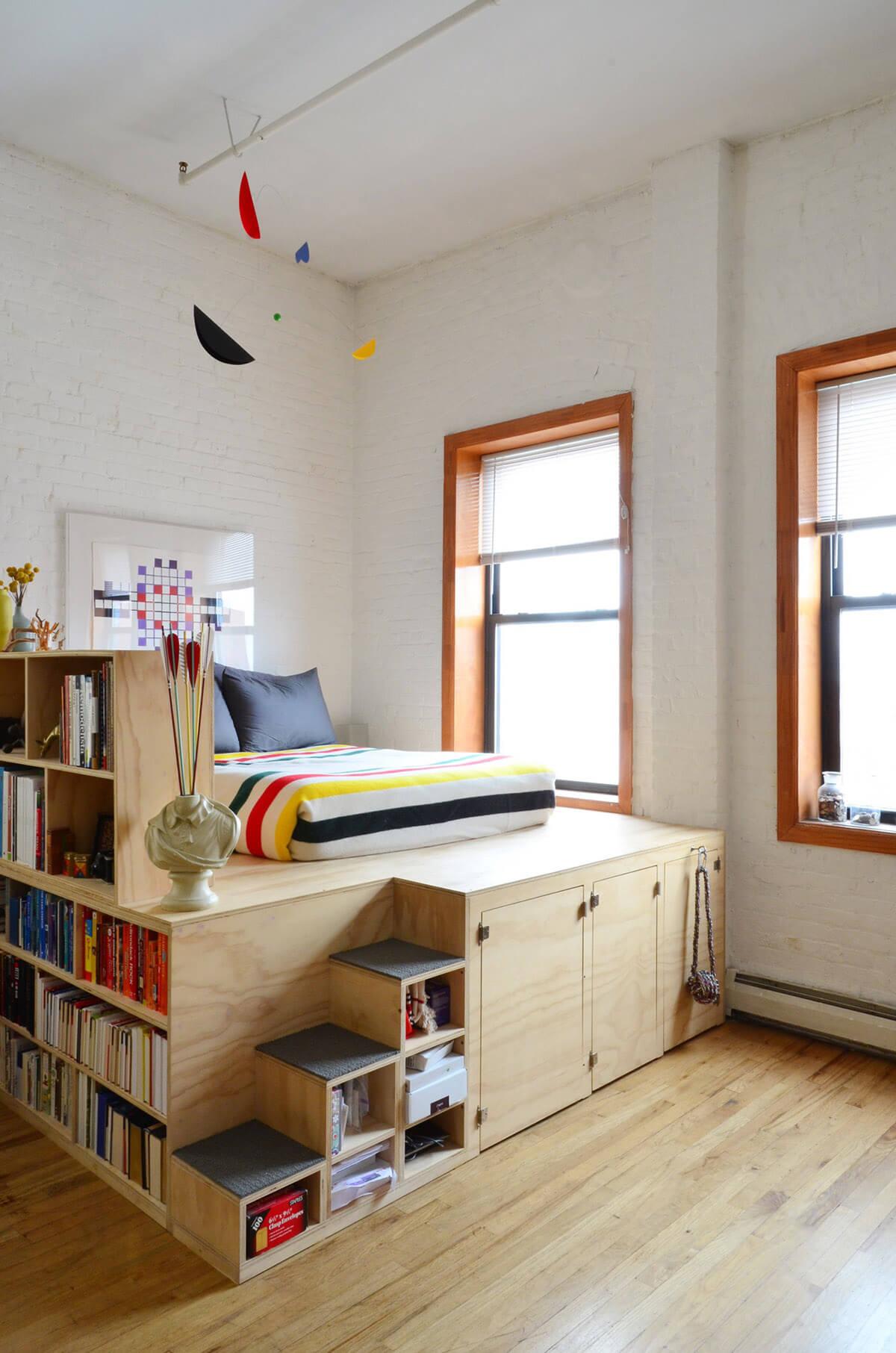 comment am nager une petite chambre coucher 15 id es. Black Bedroom Furniture Sets. Home Design Ideas