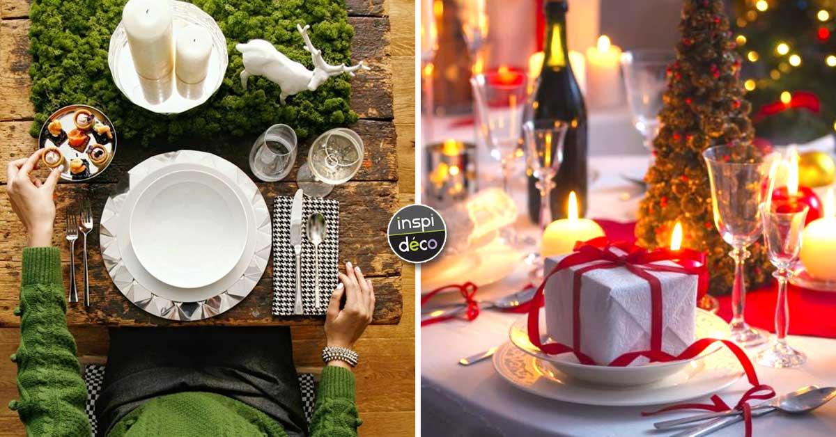 Charmant Cette Année Le Repas De Noël Cu0027est Chez Vous? Voici 15 Idées Déco Pour La  Tableu2026