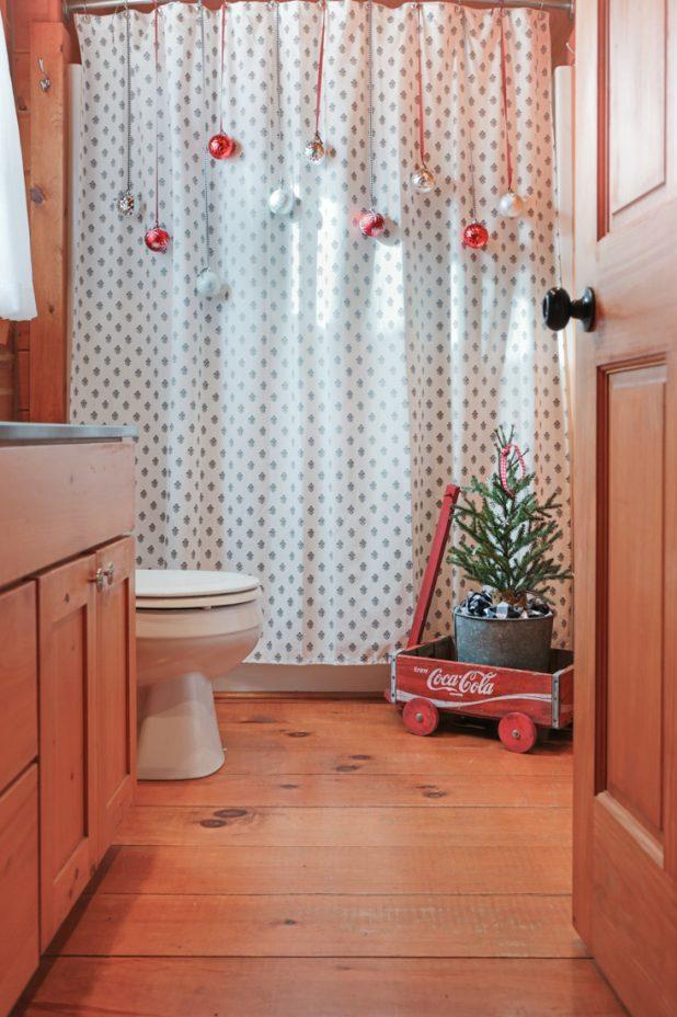 Déco Noel dans la salle de bain