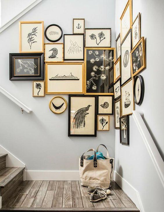 Un mur de cadres pour décorer