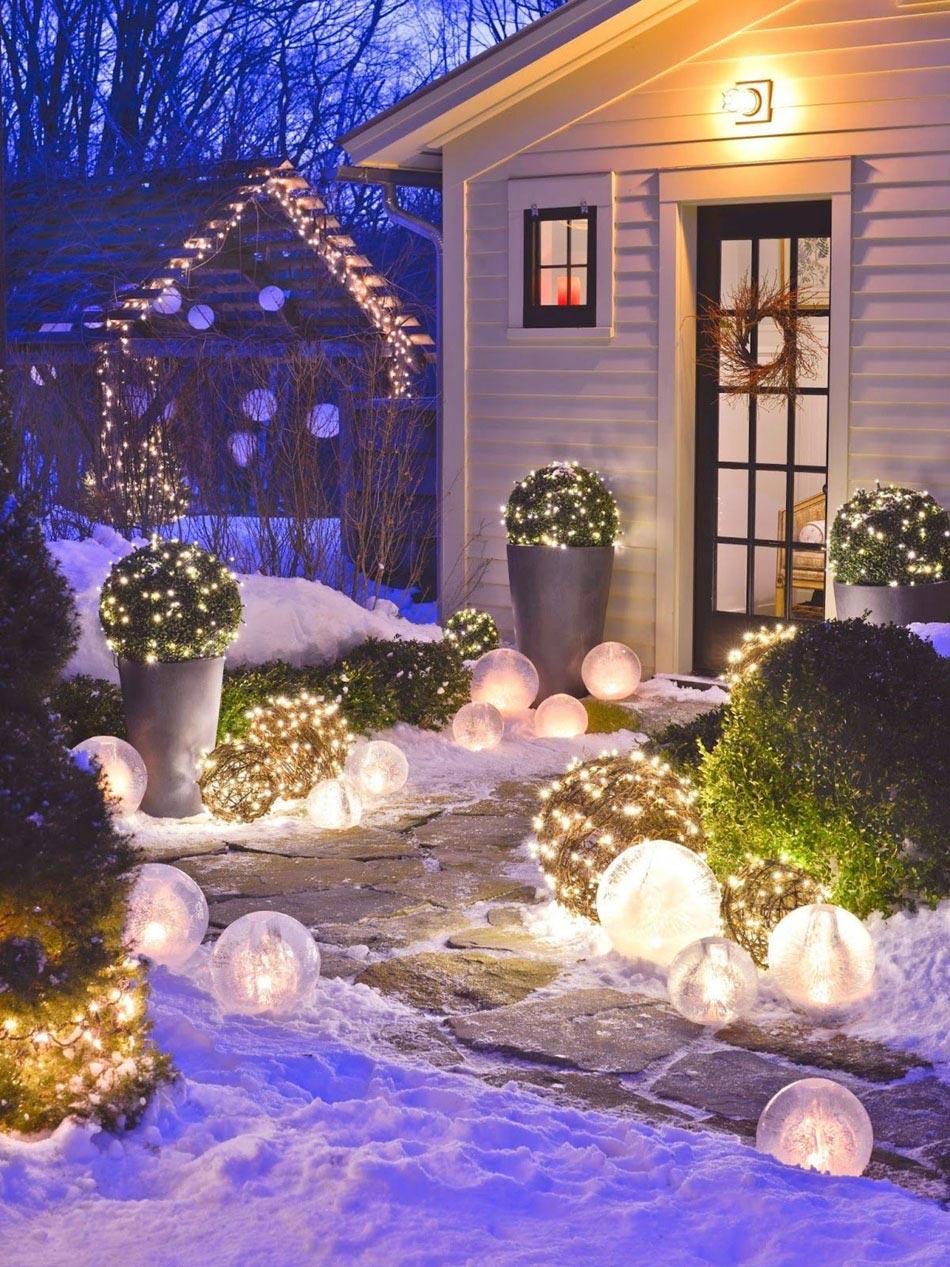 Une déco Noel dans le jardin