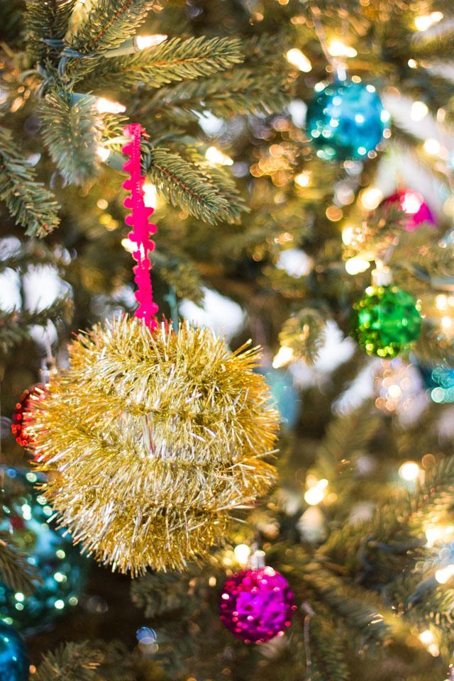 Décorations Noel à partir de guirlandes