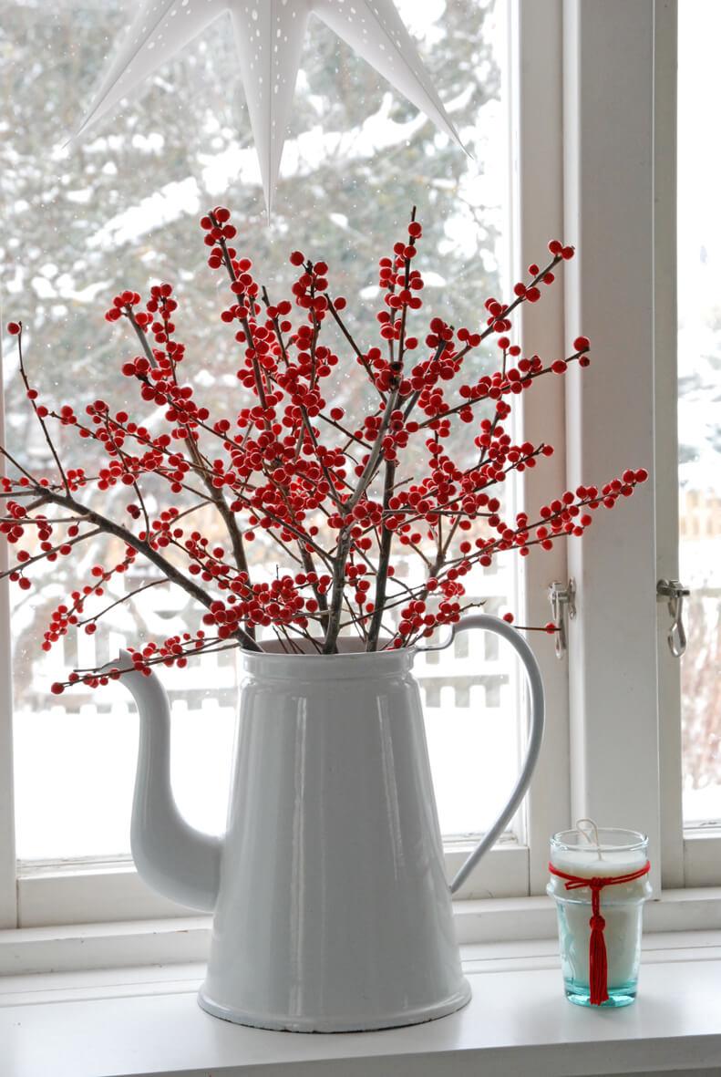 Décorations en rouge et blanc pour Noel