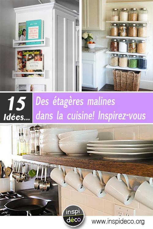 des tag res malines dans la cuisine 15 id es inspirantes. Black Bedroom Furniture Sets. Home Design Ideas