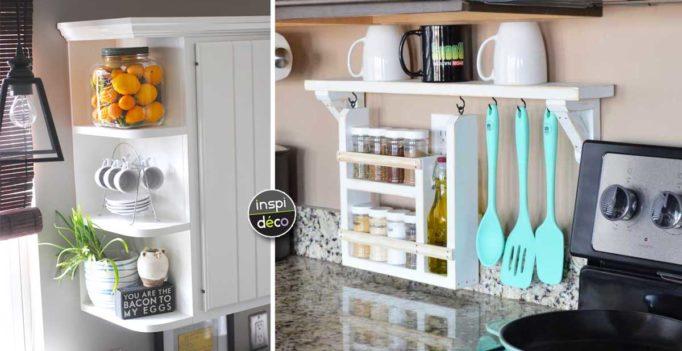 astuces pour gagner de la place dans votre cuisine 20 id es. Black Bedroom Furniture Sets. Home Design Ideas