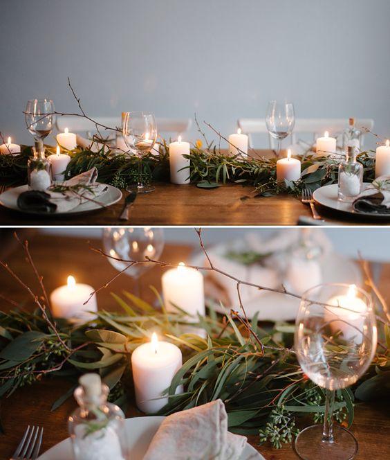 Atmosphère de Noel avec de belles bougies