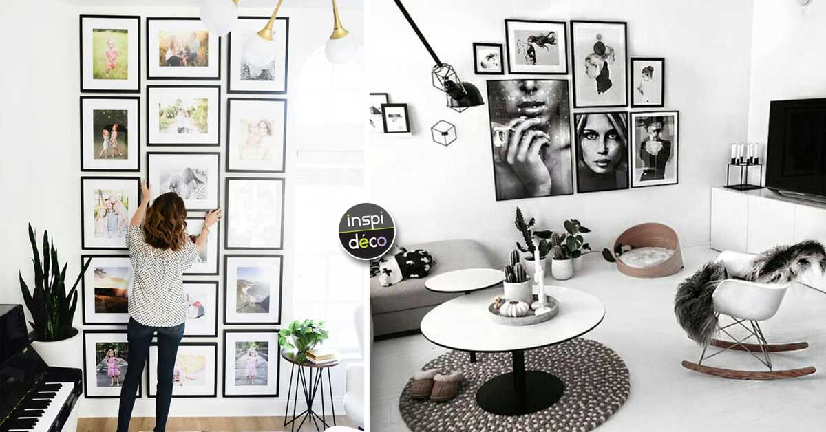 un mur de cadres pour d corer son int rieur 15 id es inspirantes. Black Bedroom Furniture Sets. Home Design Ideas