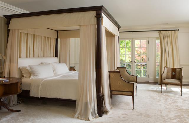 Camera da letto bianca e legno