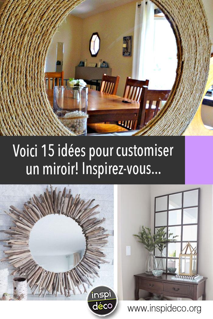 Customiser un miroir! 15 idées DIY pour vous inspirer...