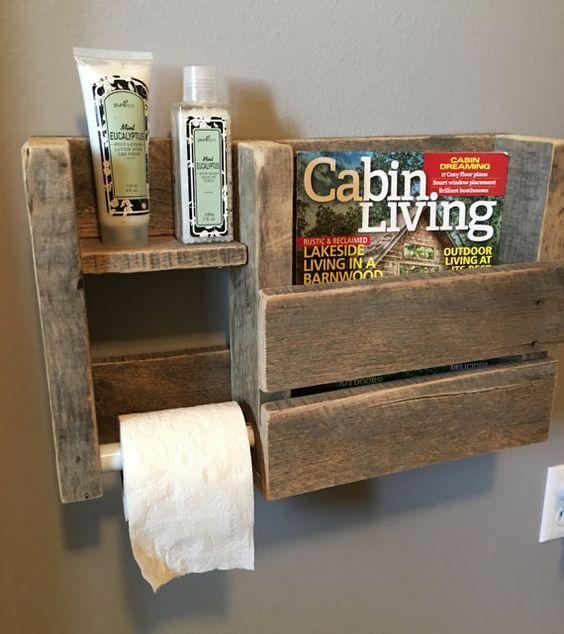 Déco en palette de bois dans la salle de bain