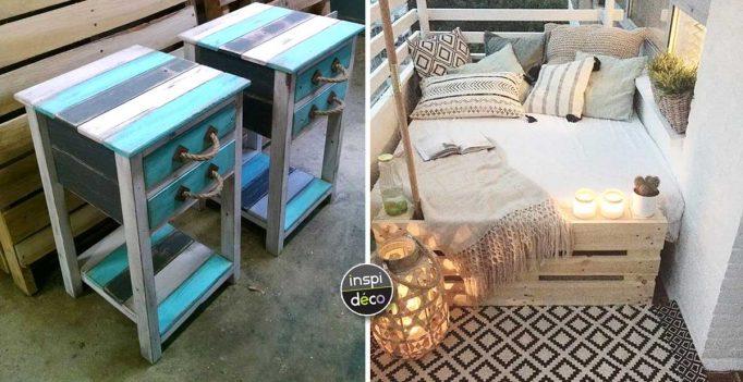 diy avec des palettes de bois 17 id es pour vous inspirer. Black Bedroom Furniture Sets. Home Design Ideas