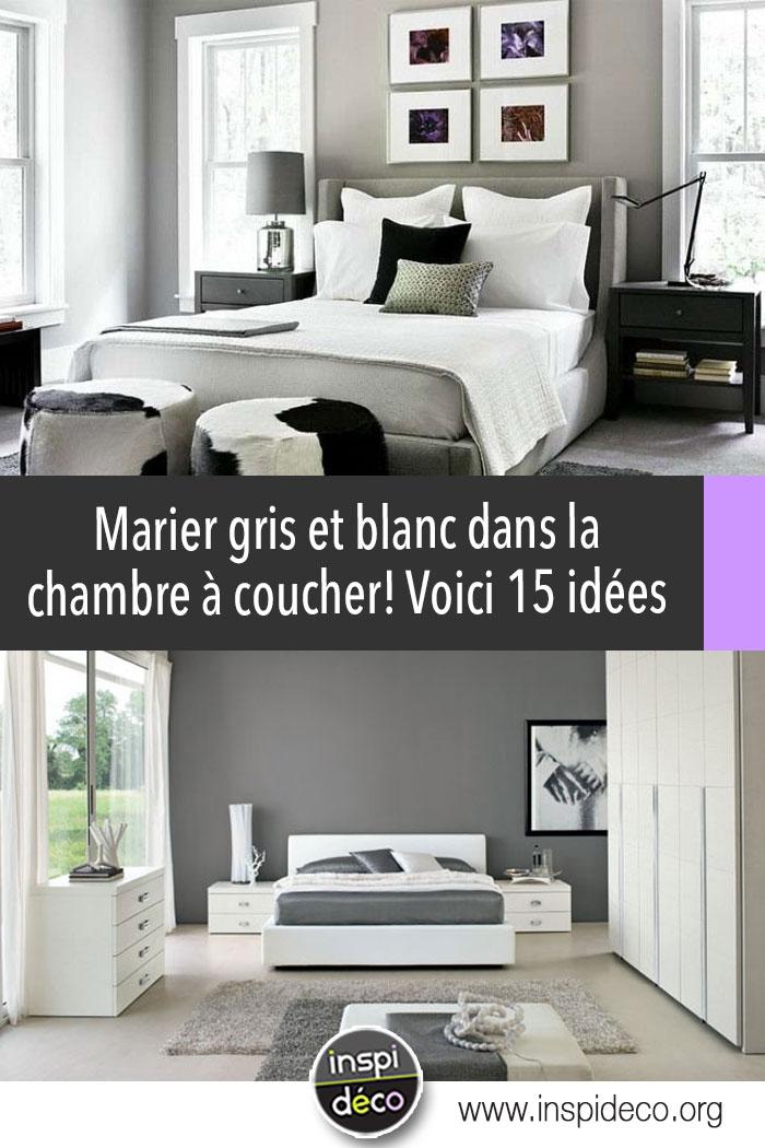 chambre grise et blanche voici 15 id es pour marier ces 2 couleurs. Black Bedroom Furniture Sets. Home Design Ideas