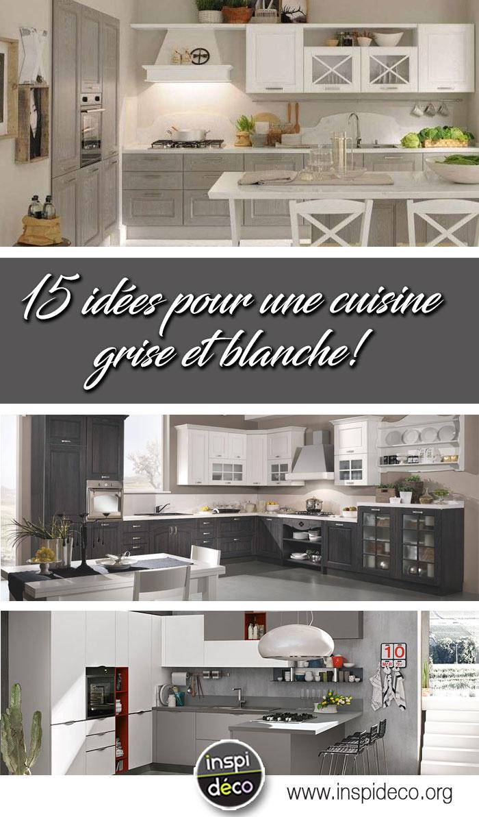 Une cuisine blanche e grise