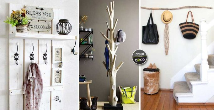 Un Porte-manteau DIY pour un intérieur original! 20 idées inspirantes...