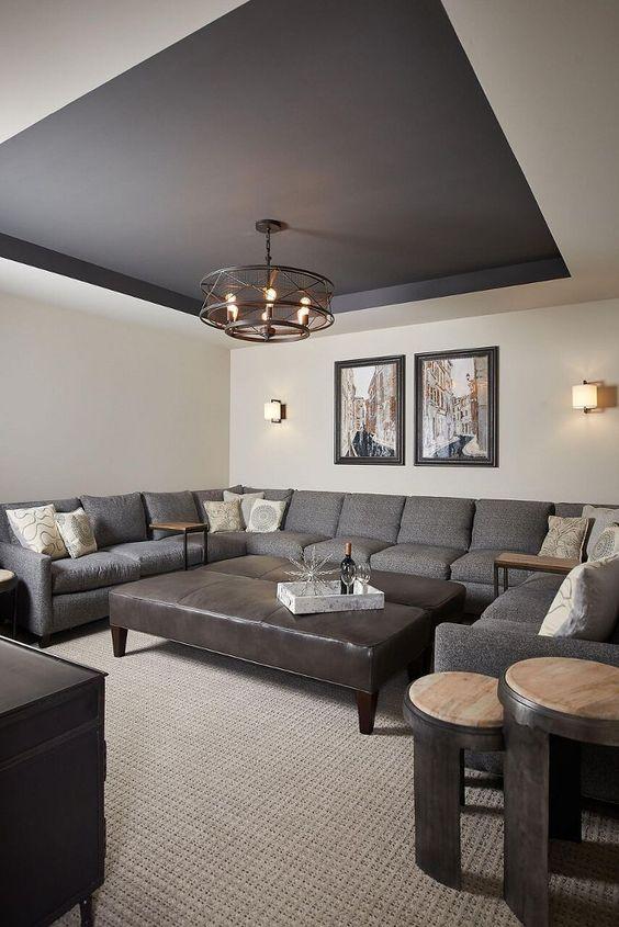 peindre le plafond en couleur 20 exemples pour vous. Black Bedroom Furniture Sets. Home Design Ideas