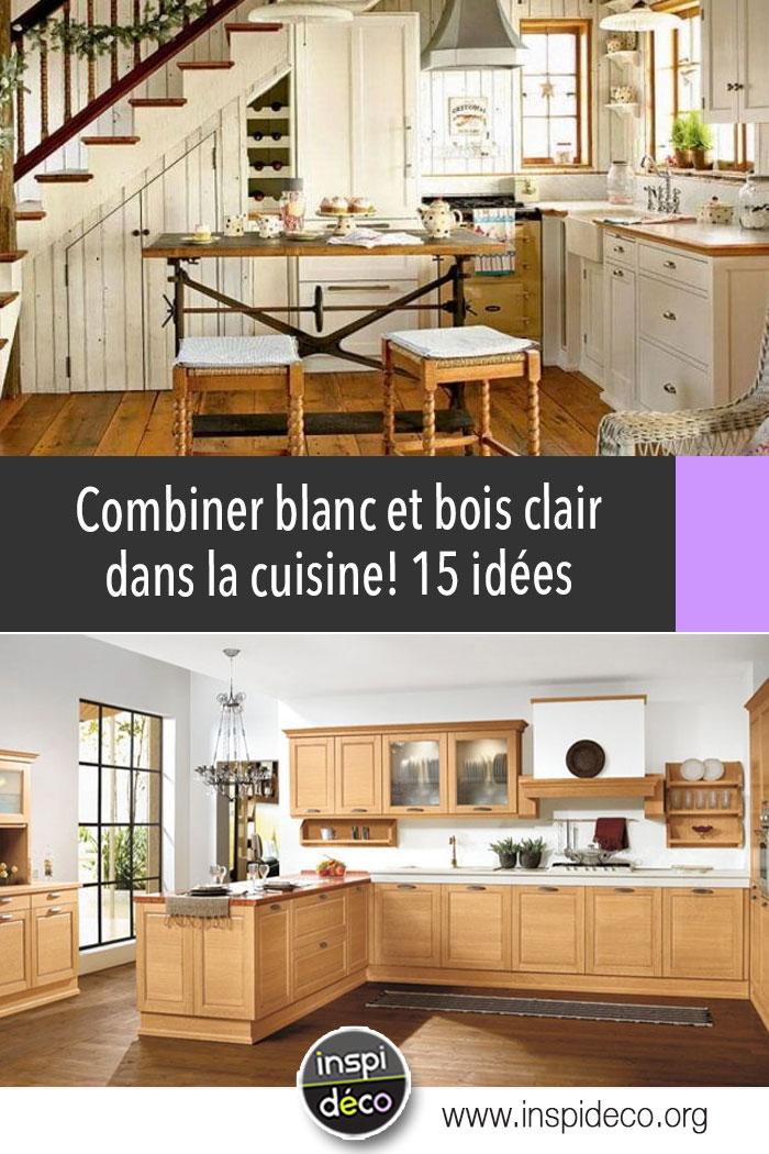 cuisine blanche et bois clair 15 id es lumineuses pour. Black Bedroom Furniture Sets. Home Design Ideas