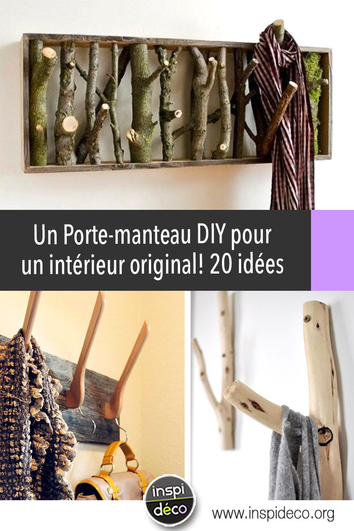 un porte manteau diy pour un int rieur original 20 id es inspirantes. Black Bedroom Furniture Sets. Home Design Ideas