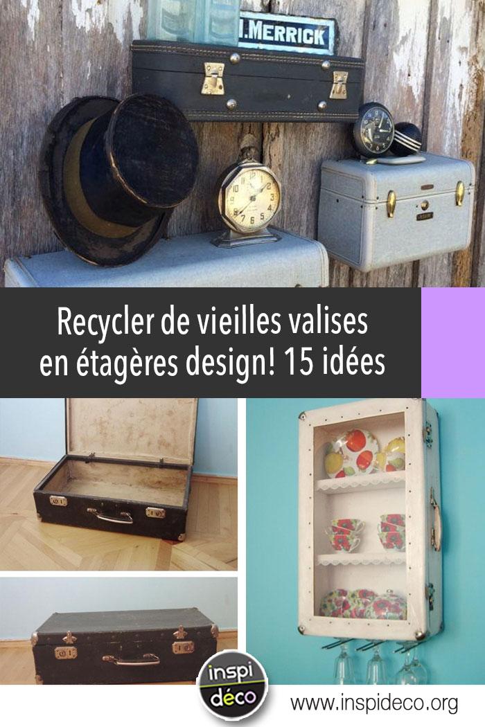 recycler de vieilles valises en tag res design 15 id es inspirantes. Black Bedroom Furniture Sets. Home Design Ideas