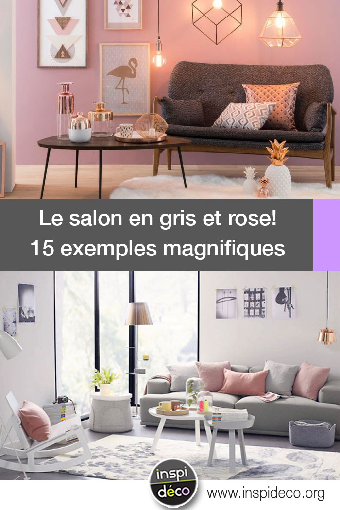 salon en gris et rose voici 15 exemples pour se faire une petite id e. Black Bedroom Furniture Sets. Home Design Ideas