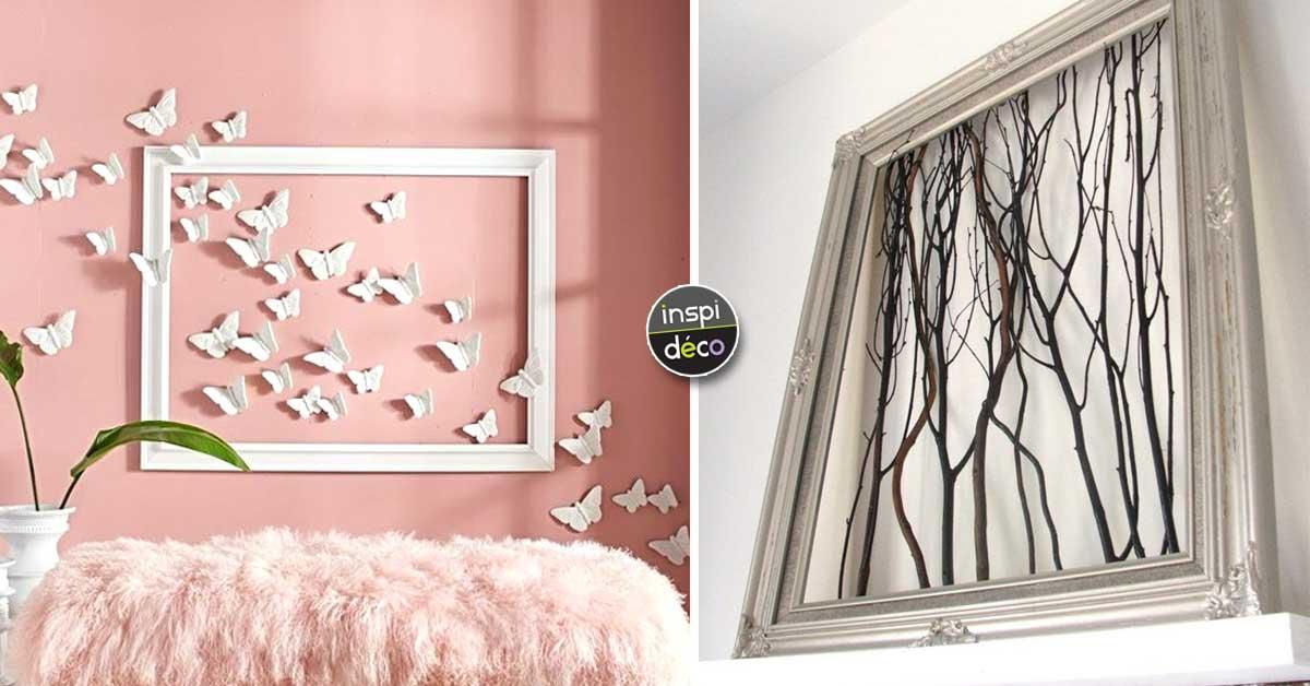 un cadre sans photos et pourquoi pas voici 15 id es. Black Bedroom Furniture Sets. Home Design Ideas