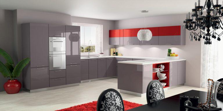 cuisine grise et rouge - Cuisine Grise Et Rouge