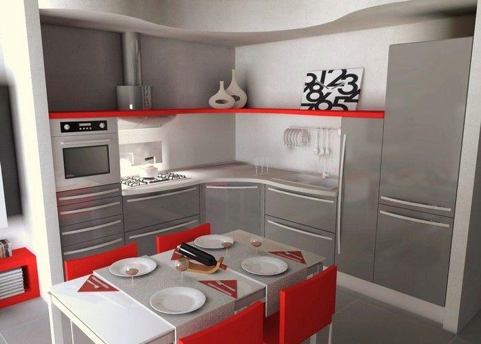 Cuisine grise et rouge... 15 exemples pour vous faire une petite idée!
