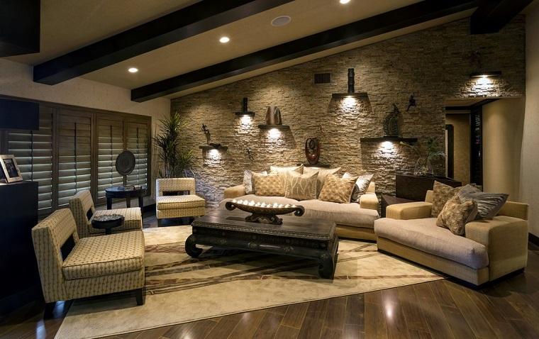Pareti in muratura nel soggiorno! 15 idee per ispirarvi...