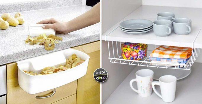 Accessoires malins pour optimiser la cuisine en voici 15 for Salvaspazio cucina