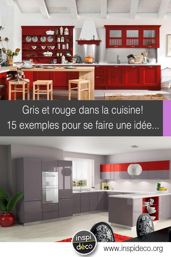 cuisine grise et rouge 15 exemples pour vous faire une petite id e. Black Bedroom Furniture Sets. Home Design Ideas