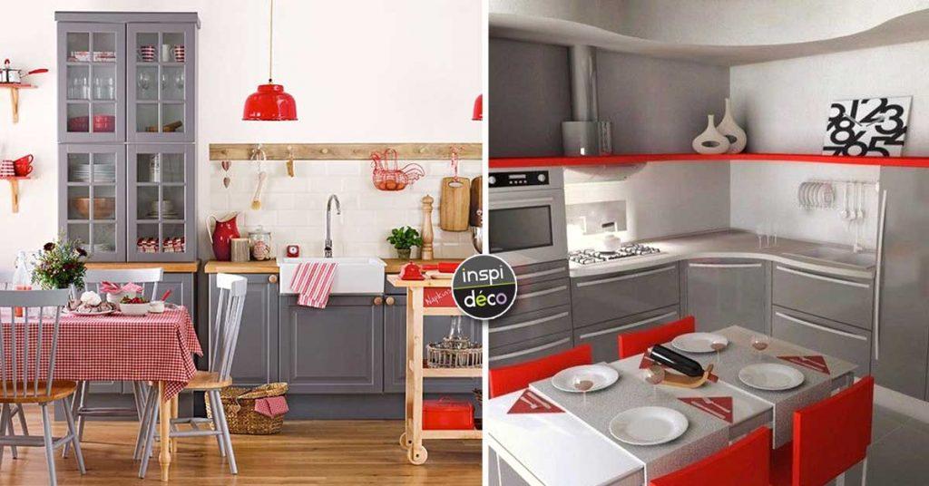 Cuisine Grise Et Rouge 15 Exemples Pour Vous Faire Une Petite Idee
