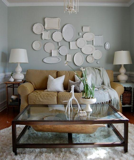 D corer un mur avec des assiettes voici 20 id es for Deco murale zinc