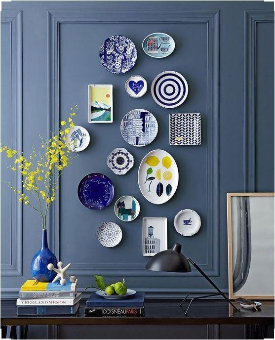 d corer un mur avec des assiettes voici 20 id es inspirantes. Black Bedroom Furniture Sets. Home Design Ideas