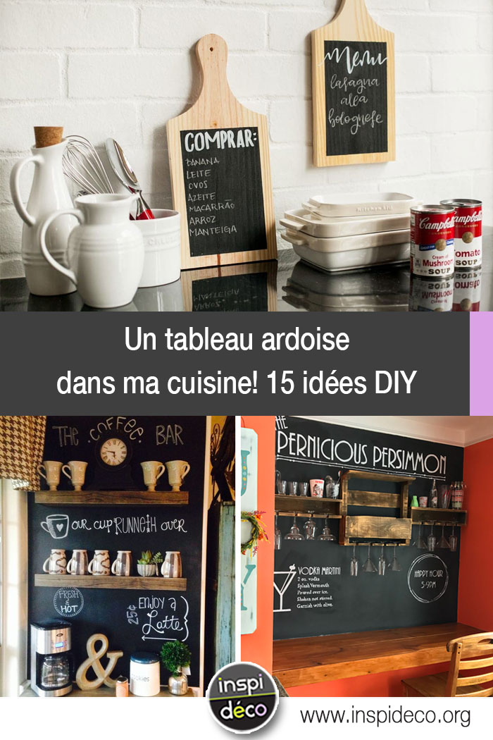 un tableau ardoise diy dans ma cuisine voici 15 id es. Black Bedroom Furniture Sets. Home Design Ideas
