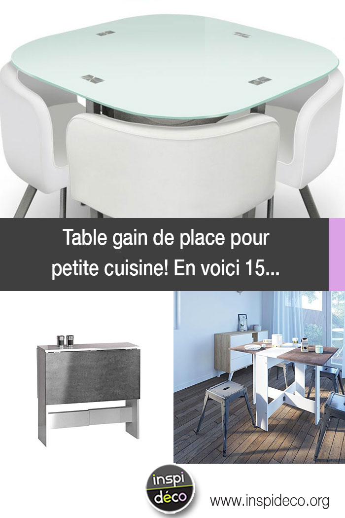 table gain de place pour petite cuisine en voici 15 pour. Black Bedroom Furniture Sets. Home Design Ideas